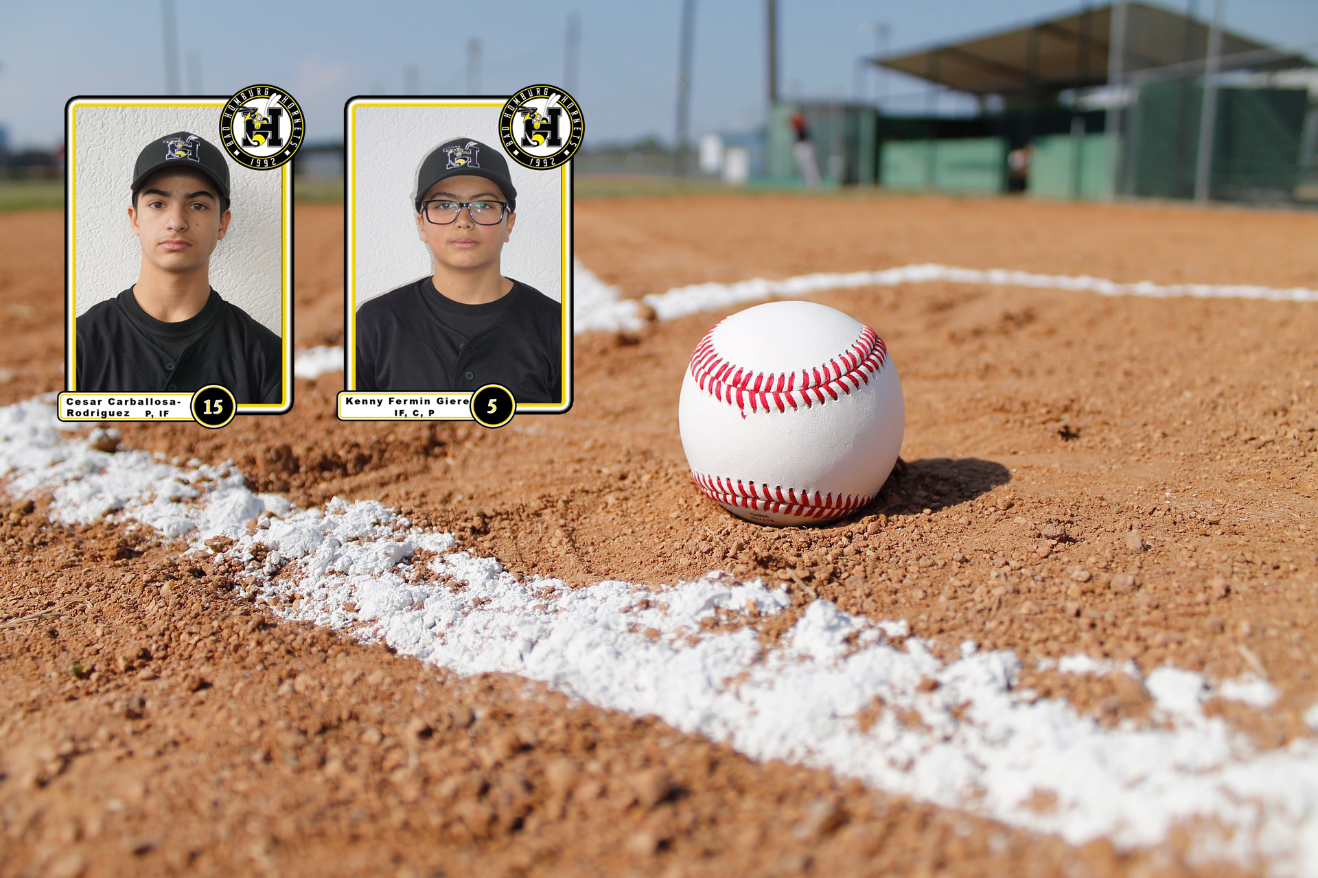 Baseball auf Baseball-Feld